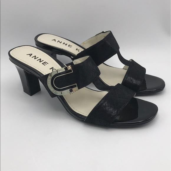 New Anne Klein Iflex Black Nala Heels